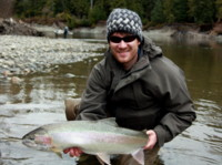 Spey fly fishing Skeena - Kalum River wild Steelhead