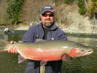 Rod Toth with a huge Kalum River Steelhead