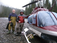 Sid Peltier Steelhead heli fishing northern British Columbia Canada