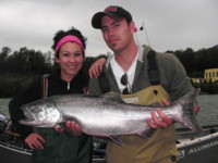 This Jack Chinook was hooked with a Luhr Jensen SE Magnum Hot Shot