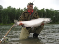Kurt Anderson with Kitimat River Chinook (King) Salmon