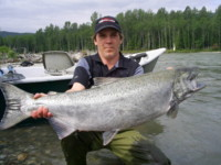 Nelson Furtado with a Kitimat River Chinook (King) Salmon