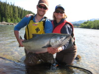 40-pound Kitimat River Chinook (King) Salmon landed this week
