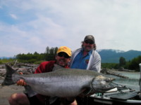 Gill McKean with Kitimat River Chinook (King) Salmon
