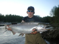 Jessie Houston with a Kitimat River Chinook (King) Salmon