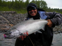 Spey Fly Fishing for Chinook (King) Salmon on the Kitimat River