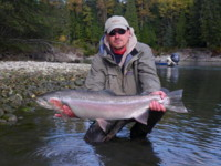 Genady Davidov with a Kalum River Steelhead