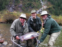 Spey fly fishing for Coho on the most beautiful river in the world