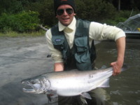 Fly fishing for Coho (Silver) Salmon