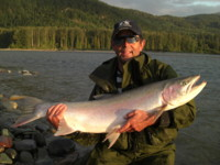 Fly fishing Skeena River Steelhead